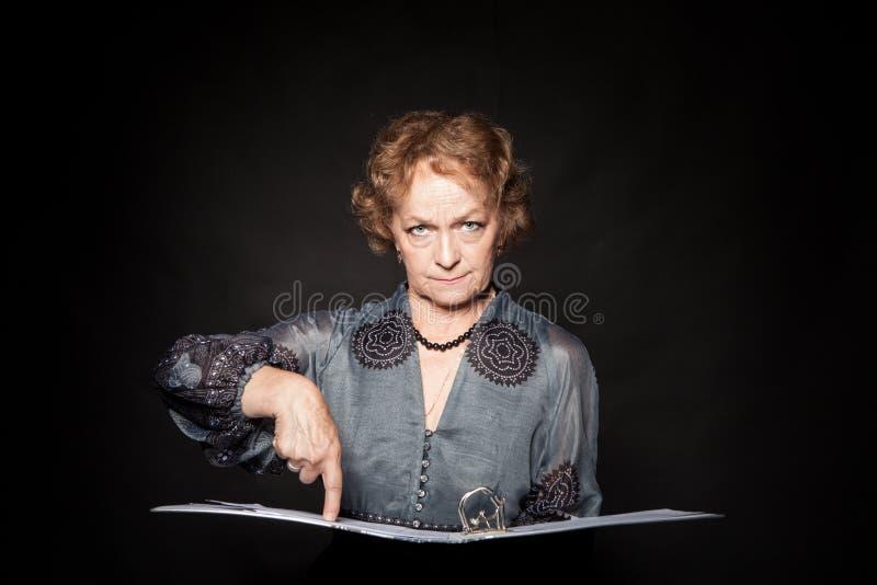 Emotional elderly woman royalty free stock photo