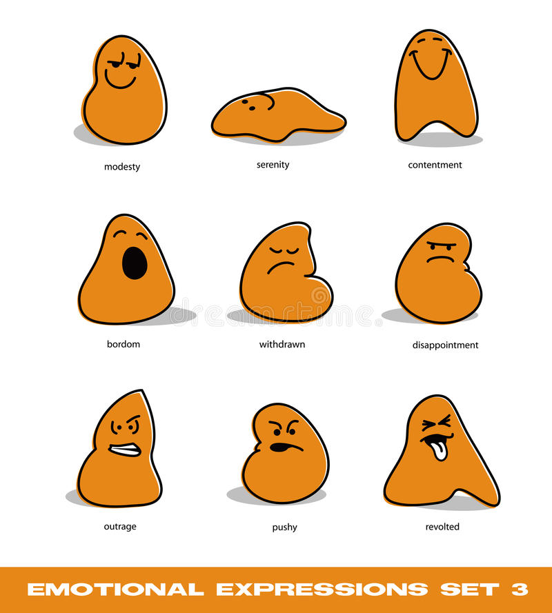 Free Emotional Expressions Set 3 Royalty Free Stock Images - 27874679