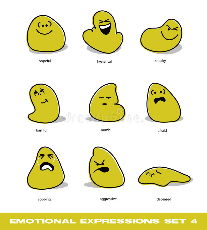 Download Emotional Expressions Set 4 Stock Vector - Image: 27874683