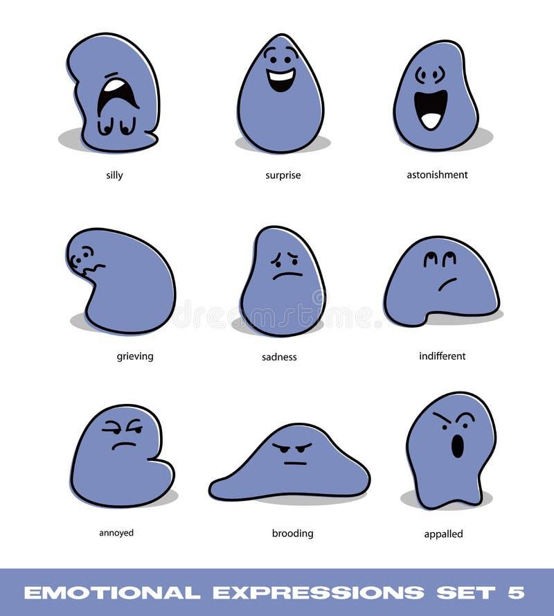 Download Emotional Expressions Set 5 Stock Image - Image: 27874701