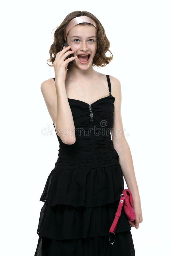 Download Emotional Girl Talking With Mobile Phone Stock Photo - Image: 14710420