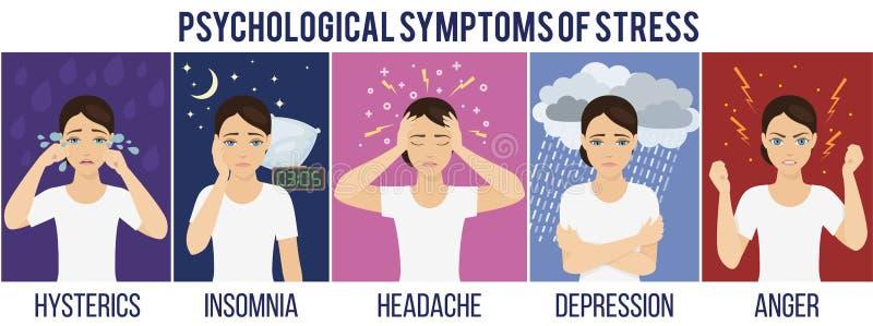 Emotional health concept vector illustration