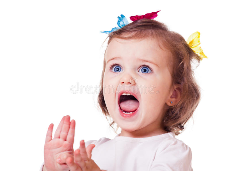 Emotional kid royalty free stock photo