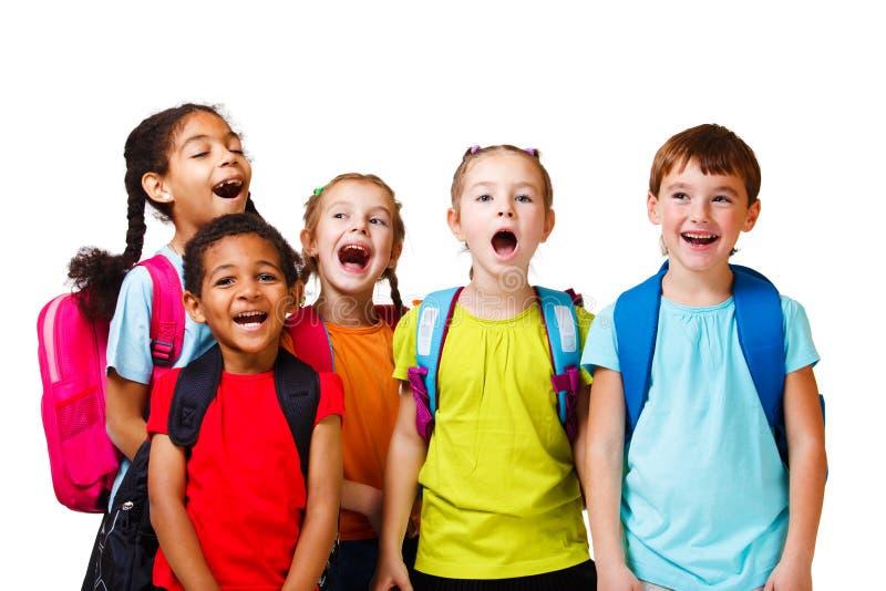 Emotional kids stock photos
