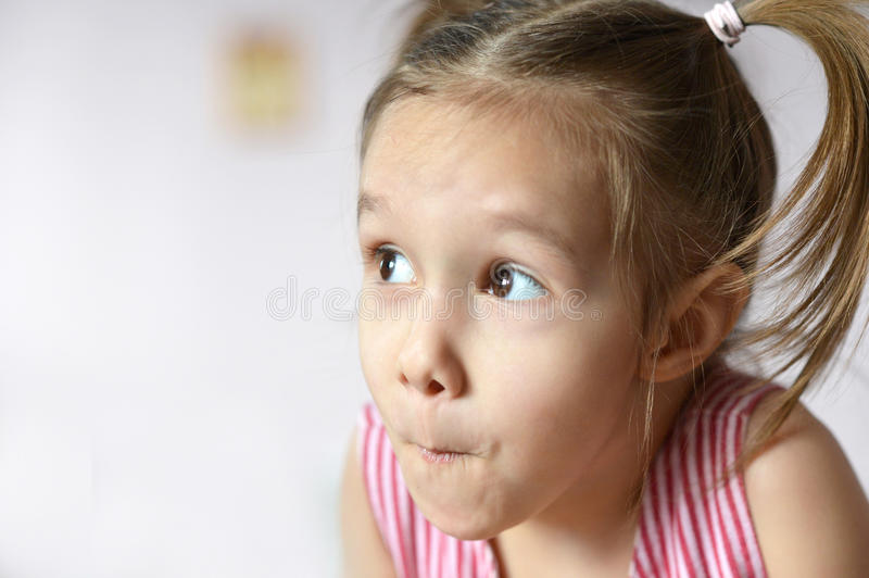 Emotional little girl royalty free stock images