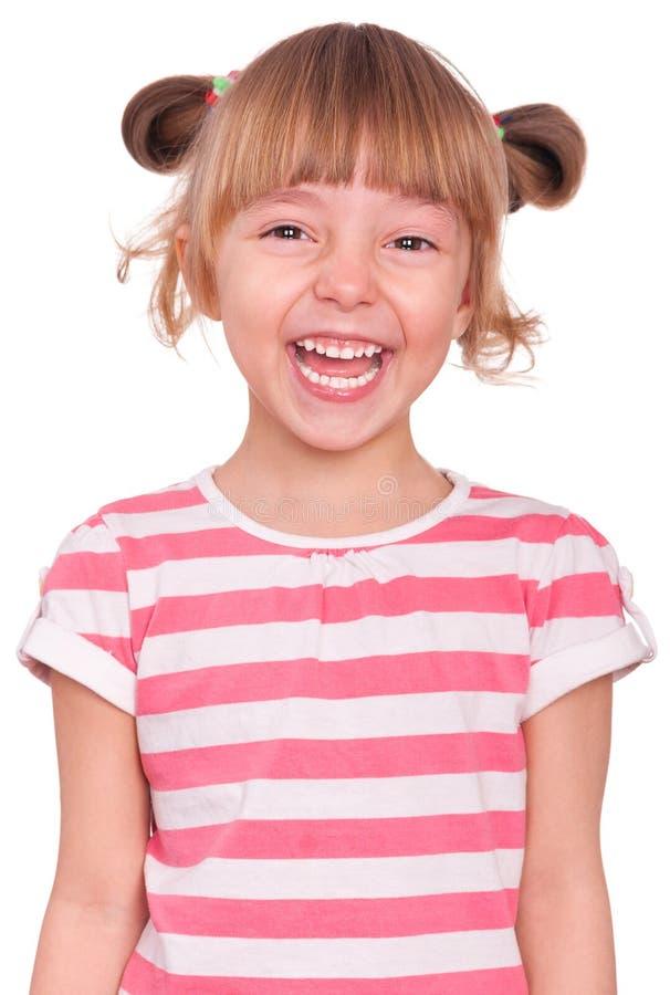 Emotional portrait little girl stock photos