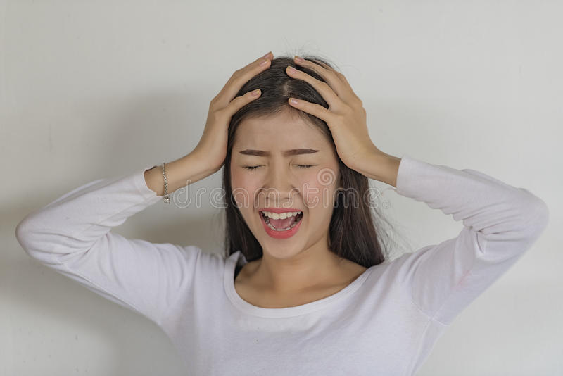 Emotional stress royalty free stock images