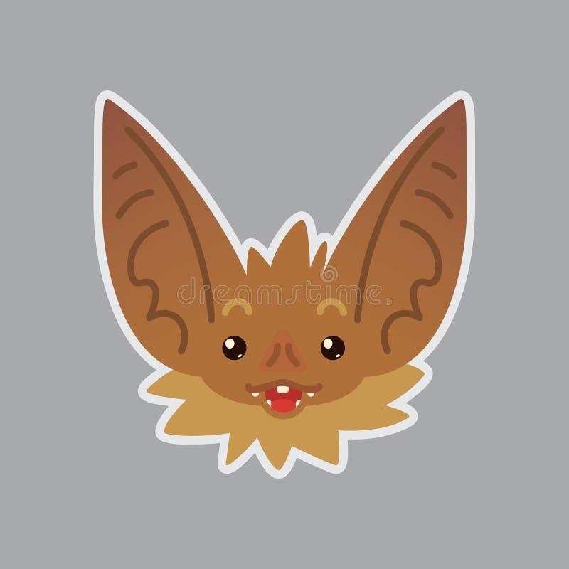 Emotionaler Kopf des Schlägers Überraschtes emoji Smiley-Ikone lizenzfreie abbildung