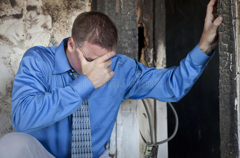 Emotionaler Mann stockfoto