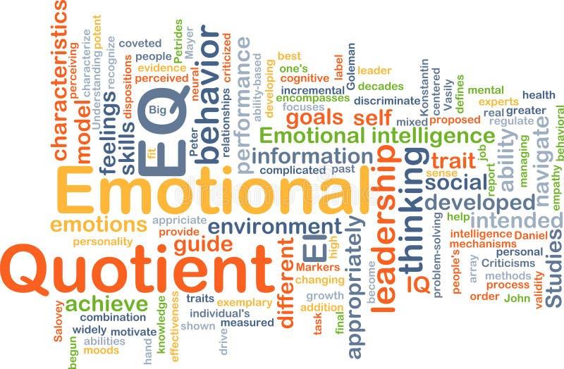 Emotionales Hintergrundkonzept des Quotienten EQ stock abbildung
