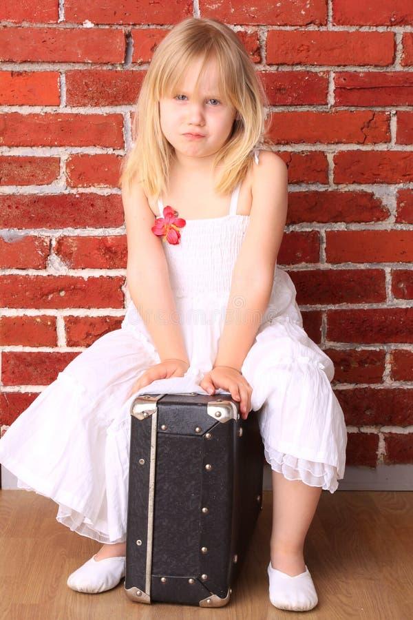 Emotionales kleines Mädchen stockbilder
