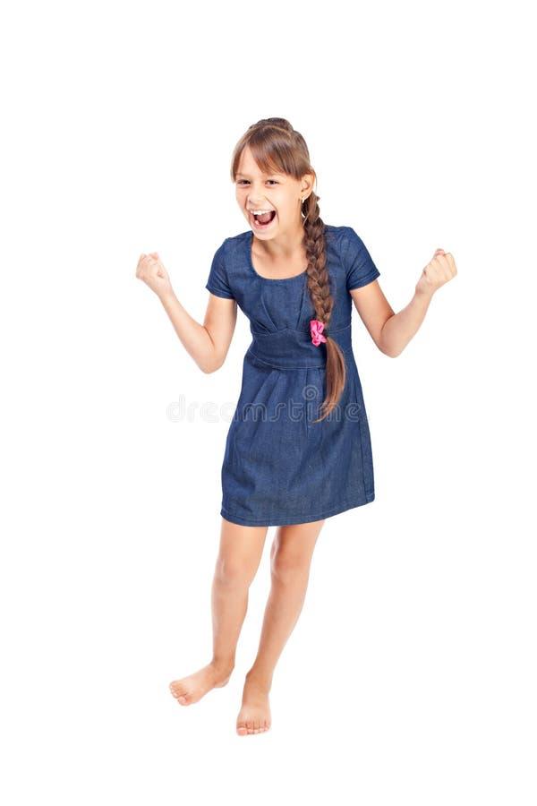 Download Emotionales Mädchen stockbild. Bild von ausdruck, tanz - 26373317