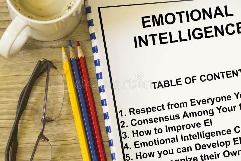 Emotioneel intelligentieconcept stock afbeeldingen