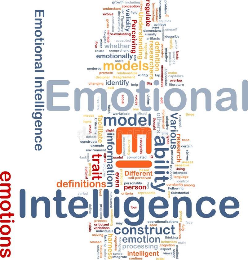 Emotioneel intelligentieconcept als achtergrond royalty-vrije illustratie