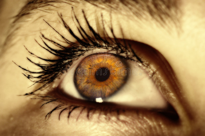Emotioneel oog stock foto