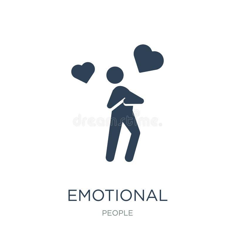 emotioneel pictogram in in ontwerpstijl emotioneel die pictogram op witte achtergrond wordt geïsoleerd emotionele vectorpictogram stock illustratie