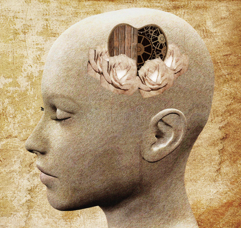 Emotionele intelligentie stock illustratie