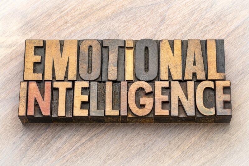 Emotionele intelligentie - woordsamenvatting royalty-vrije stock afbeelding