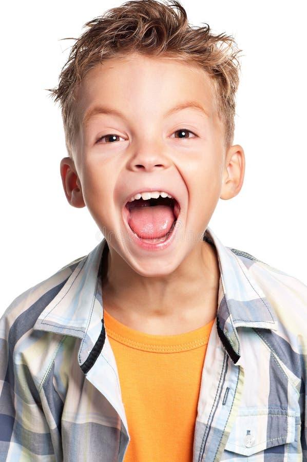 Emotionele jongen stock fotografie