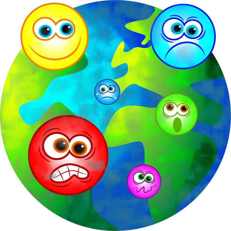 Emotionele wereld vector illustratie