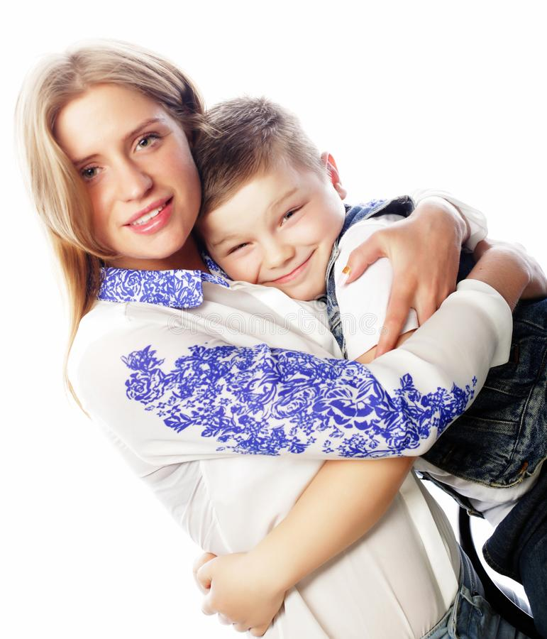 Emotionell och folkbegrepp för livstil, för lycka: broderans-syster, lycklig barndom, slut upp royaltyfri fotografi