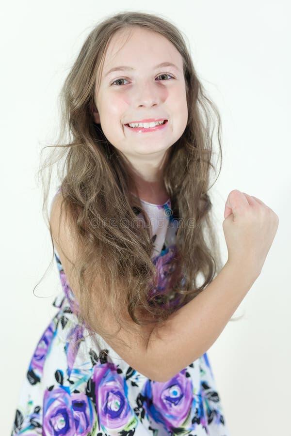 Emotionell stående för gullig tonårig flicka arkivbilder