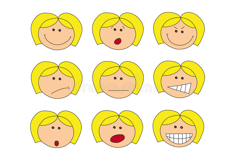 Download Emotions stock illustration. Image of angry, surprised - 10610073