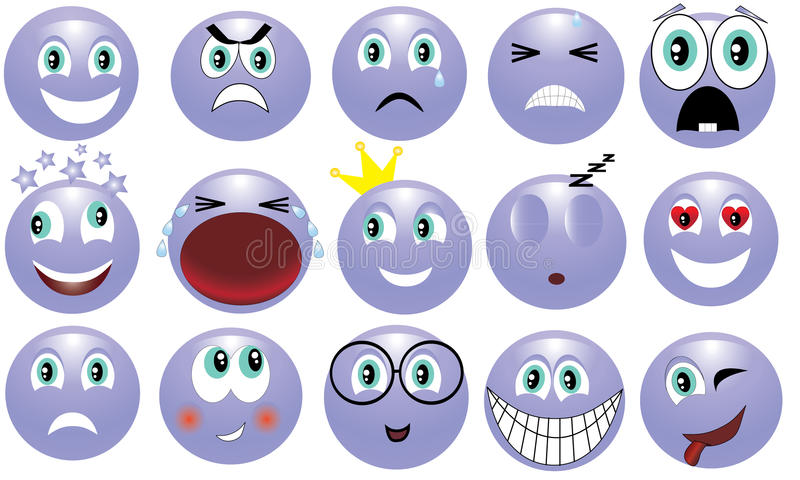 Emotions. Icon depicting the various emotions royalty free illustration