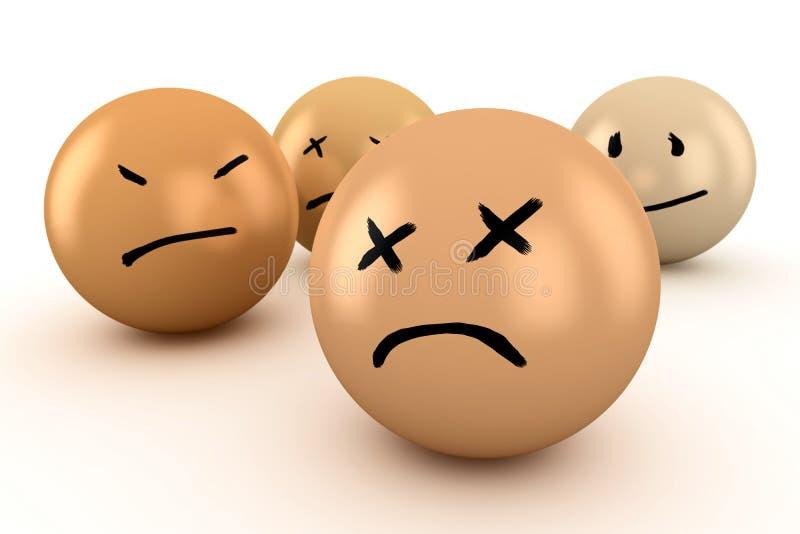 Download Emotions stock illustration. Illustration of sadness - 28494179