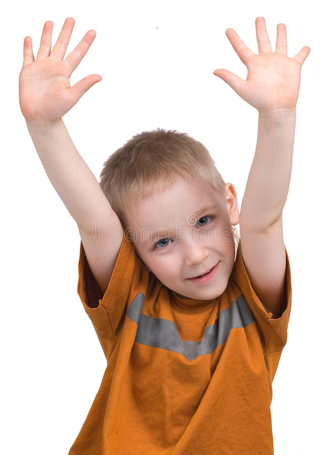Download Emotions of the boy stock photo. Image of boys, energy - 2682908
