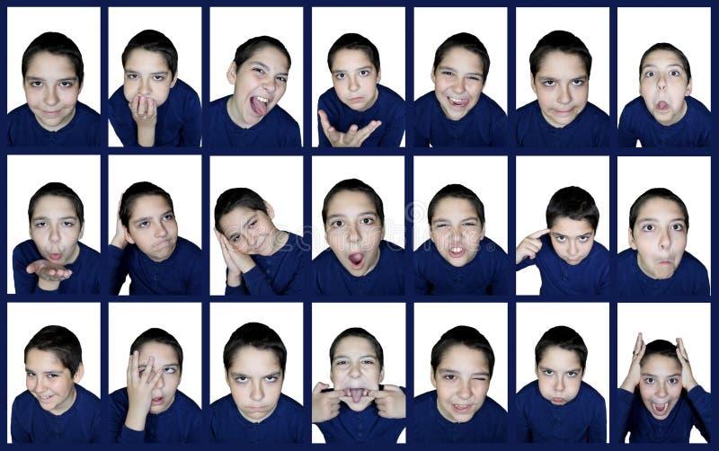 Emotions boy stock photos