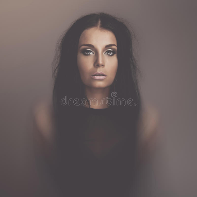 Download Emotions Dark Girl Portrait Stock Photo - Image: 31746630