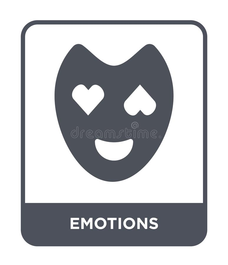 Emotions icon in trendy design style. emotions icon isolated on white background. emotions vector icon simple and modern flat. Symbol for web site, mobile, logo royalty free illustration