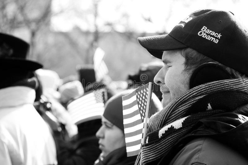 Emotions at the Inauguration royalty free stock photography