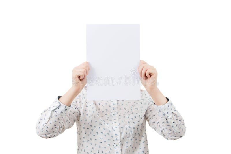 Emozione del fronte della copertura immagini stock