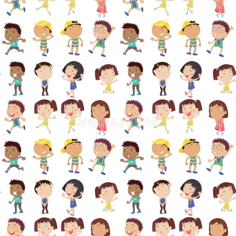 Emozione differente dei bambini illustrazione di stock