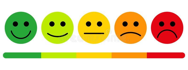 Emozioni con i sorrisi illustrazione di stock