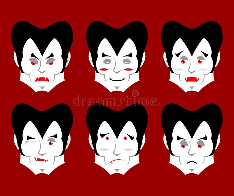 Emozioni di Dracula L'avatar del vampiro di espressioni fissate Buon e malvagità royalty illustrazione gratis