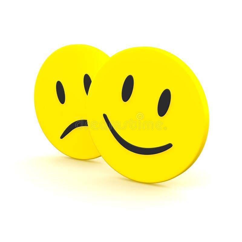 Emozioni di sorriso e tristi royalty illustrazione gratis