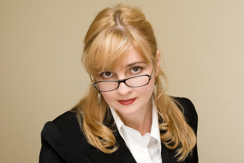 Emozioni ed abitudini della donna di affari immagini stock