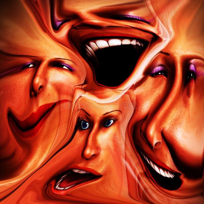 Emozioni femminili Freaky 16 fotografia stock libera da diritti