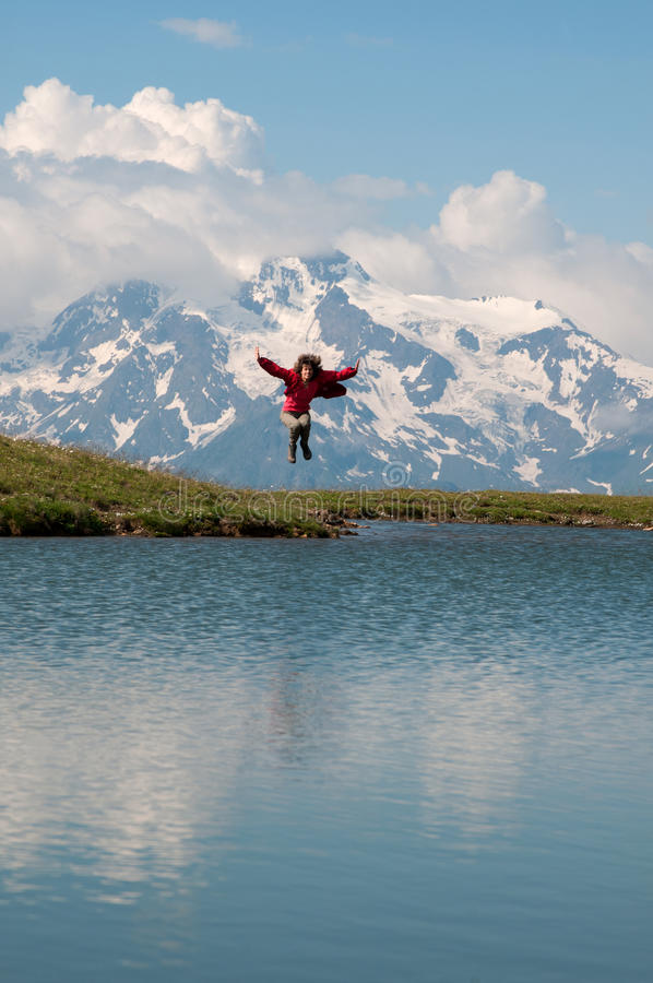 Emozioni in montagne fotografie stock libere da diritti