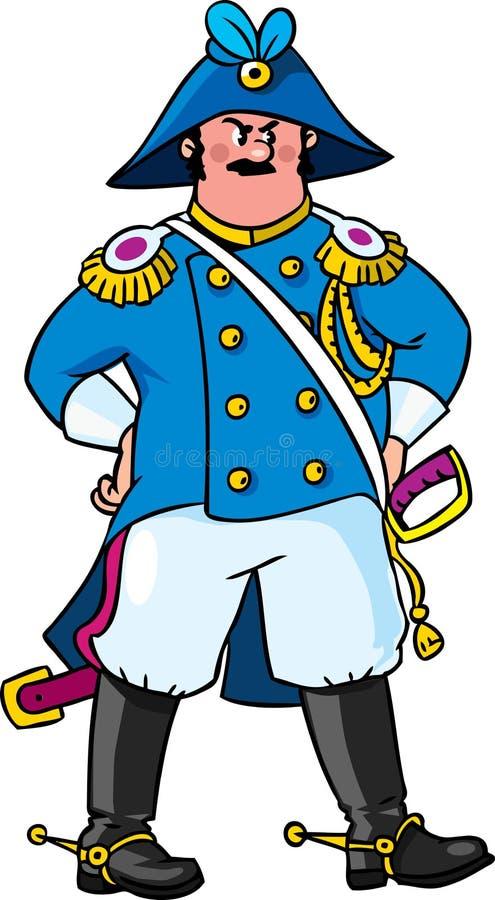 Empörter General oder Offizier lizenzfreie abbildung