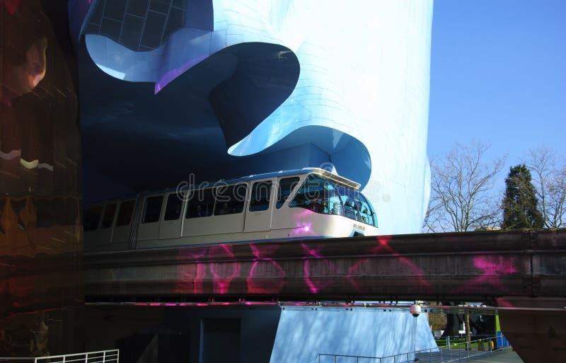 emp-monorail seattle royaltyfri foto