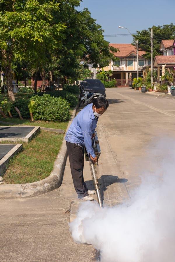 Empañar el mosquito de la matanza del espray del DDT fotos de archivo