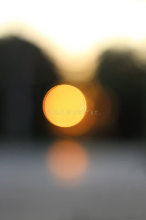 Empañe el bokeh de la salida del sol fotografía de archivo