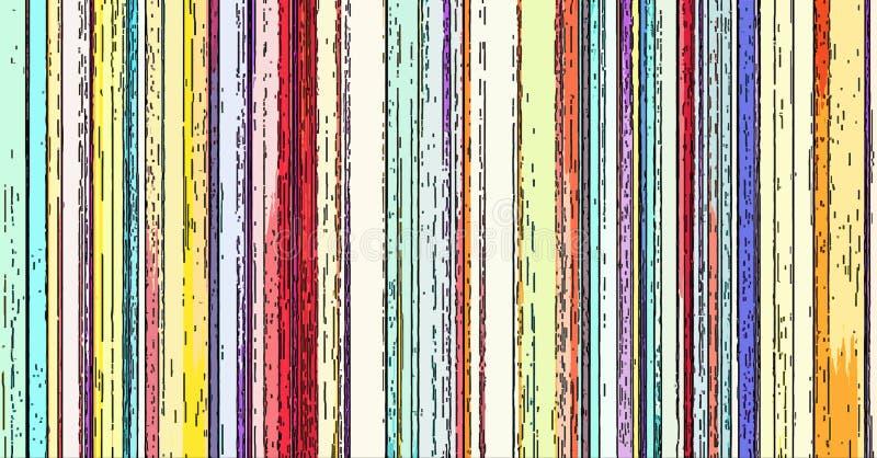 Empañe el color abstracto rayado colorido de las rayas verticales del fondo ilustración del vector