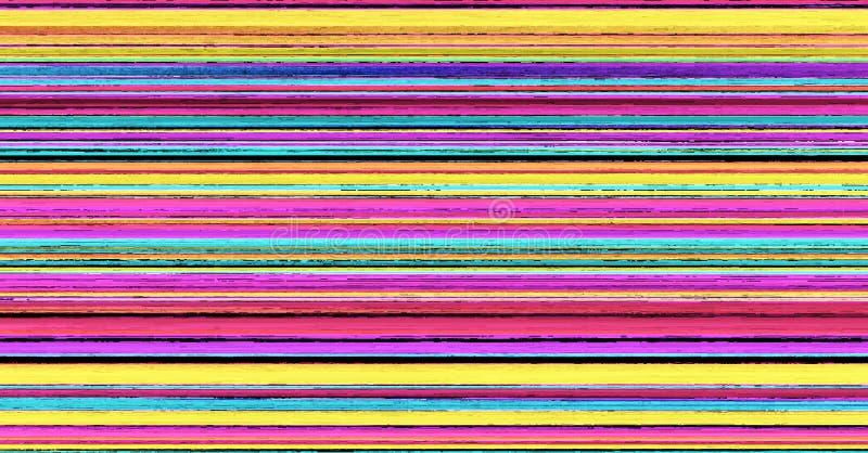 Empañe la cuesta horizontal abstracta rayada colorida de las rayas del fondo ilustración del vector