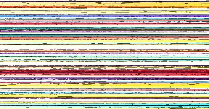Empañe la cuesta horizontal abstracta rayada colorida de las rayas del fondo stock de ilustración