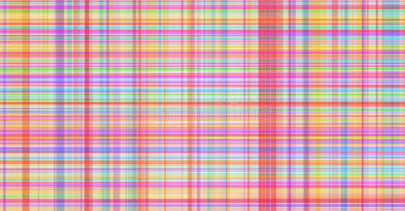 Empañe la tela escocesa abstracta rayada colorida del fondo, rayas del tartán ilustración del vector
